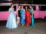 Pink limo Gainsborough prom limo