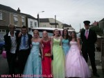Pink limo prom hire Grimsby