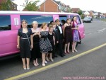Year 6 pink prom limo Sleaford